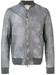 A Diciannoveventitre Double Zip Fastening Bomber Grey