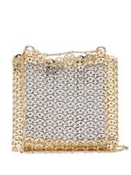 Paco Rabanne Iconic 1969 Chainmail Shoulder Bag Silver Gold