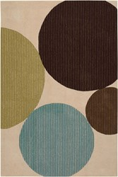 Chandra Bense 3024 Patterned Rectangular Contemporary Area Rug Beige