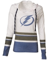 Levelwear Women's Long Sleeve Tampa Bay Lightning Hooded T Shirt Lightblue