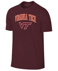Retro Brand Men's Virginia Tech Hokies Midsize T Shirt Maroon