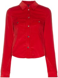 Filles A Papa Edwin Western Buttoned Cotton Blend Shirt Red