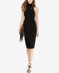 Polo Ralph Lauren Sleeveless Turtleneck Dress Black