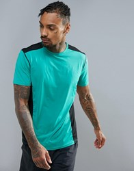 New Look Sport Cut And Sew T Shirt In Green Mint Green