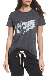 David Lerner Bowie High Low Tee Charcoal Heather