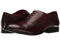 Base London Raeburn Bordo Men's Lace Up Casual Shoes Burgundy