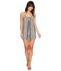 Volcom Locals Romper Cover Up Black Women's Jumpsuit And Rompers One Piece