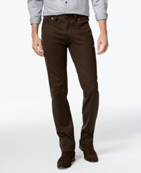 Vince Camuto Dark Brown Stretch Fabric Pants