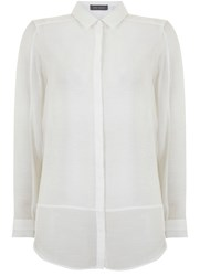 Mint Velvet Ivory Shadow Stripe Blocked Shirt