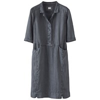 Poetry Linen Shirt Dress Ink Blue