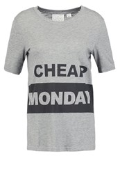 Cheap Monday Break Print Tshirt Grey Melange Dark Grey
