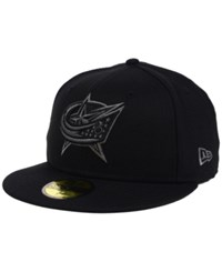 New Era Columbus Blue Jackets Black Graph 59Fifty Cap Black Graphite