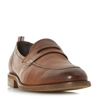 Bertie Pence Tumbled Penny Loafers Tan