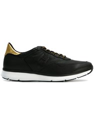 Hogan Panelled Lace Up Sneakers Black