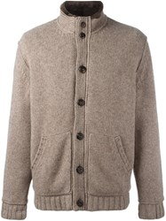 Ermenegildo Zegna Padded Knit Cardigan Brown