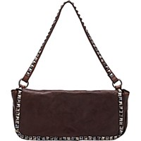 Campomaggi Women's Studded Shoulder Bag Brown