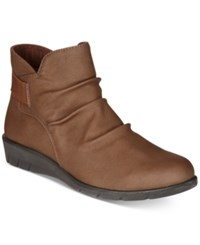 Easy Street Shoes Bounty Ankle Booties Women's Brown Matte