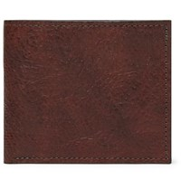 George Cleverley 1786 Russian Hide Textured Leather Billfold Wallet Brown