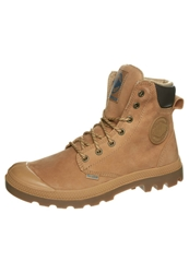 Palladium Pampa Sport Laceup Boots Amber Gold Mid Gum Beige