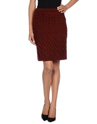 Pedro Del Hierro Knee Length Skirts Brick Red