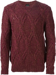 Ps Paul Smith Cable Knit Sweater Red