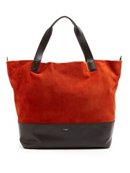Givenchy Wave Bi Colour Suede And Leather Tote Black Orange