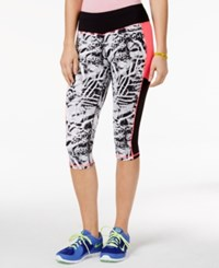 Material Girl Active Juniors' Printed Cropped Leggings Only At Macy's Party Animal