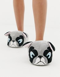New Look Slippers With Frenchie Pint Grey