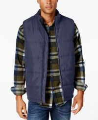Weatherproof Vintage Men's Puffer Vest Dress Blue