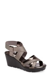 Charles By Charles David Women's Vote Wedge Sandal Pewter