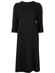 Comme Des Gara Ons Three Quarter Sleeve Shift Dress Black