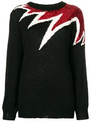 Aniye By Oversized Sequinned Detail Sweater Black