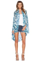 Michael Stars Brushed Batik Cape Blue