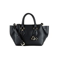 Diane Von Furstenberg Women's Voyage Double Zip Satchel Black