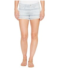 Hudson Midori Double Layer Cut Off Shorts In Barely There 2 Barely There 2 Women's Shorts Blue