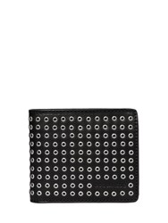 Dsquared Metal Eyelet Studded Leather Wallet