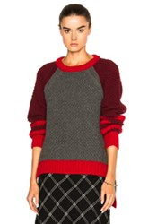 Preen Line Josie Sweater In Gray Red Gray Red