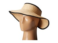 San Diego Hat Company Rhv1505 Raffia Roll Up Visor With Velcro Closure Natural Casual Visor Beige