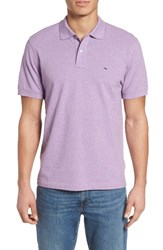 Vineyard Vines Men's Classic Fit Heathered Pique Polo Sea Urchin