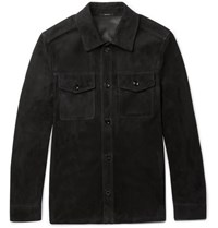 Tom Ford Suede Shirt Jacket Black