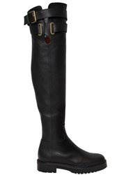 Valentino 30Mm Bowrap Leather Over The Knee Boots
