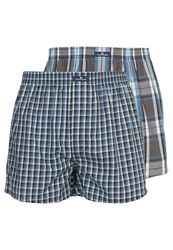 Tom Tailor 2 Pack Boxer Shorts Deep Water Blue