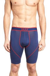 Saxx Men's 'Kinetic' Stretch Boxer Briefs Bright Navy Red
