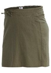 Mamalicious Mlwinnie Mini Skirt Ivy Green Dark Green