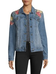 Joe's Jeans Embroidered Denim Jacket Sasha