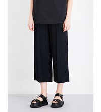 Chalayan High Rise Cropped Woven Trousers Black