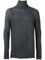 Lost And Found Ria Dunn Seamless Roll Neck Jumper Grey
