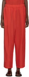 Damir Doma Red Satin Lounge Pants