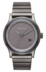 Nixon Men's Station Bracelet Watch 41Mm Gunmetal