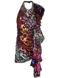 Halpern Sequin Dress Multicolour